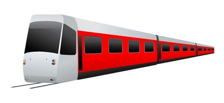 Train. Vector illustration on white background Stock Vector - 12747760