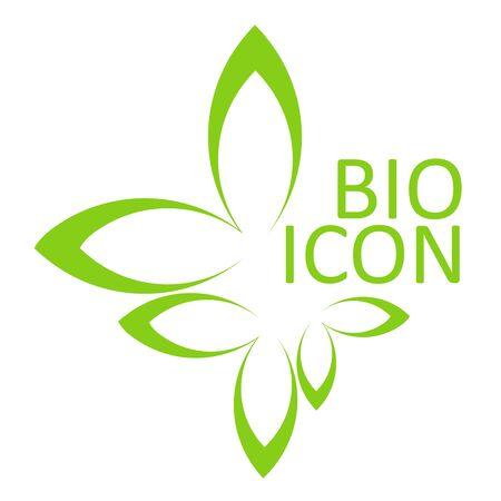 �cologie: BIO ic�ne. �l�ment de design �cologique