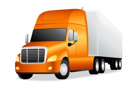 cartoon truck: Cami�n. Ilustraci�n vectorial sobre fondo blanco Vectores