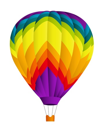 Globo de aire caliente ilustración vectorial sobre fondo blanco Vectores