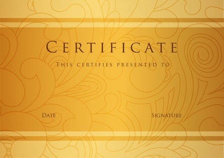 certificate: Certificate of completion template  Vector Illustration