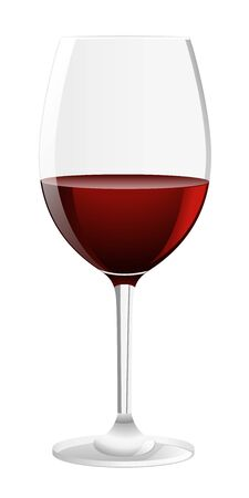 wine glass: Glass of red wine  Vector illustration on white background