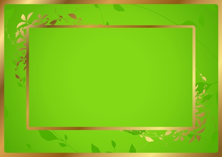 Green Certificate of completion template with golden border  Vector Illustration of diploma Vector