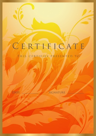 certificate: Certificate of completion template. Vector
