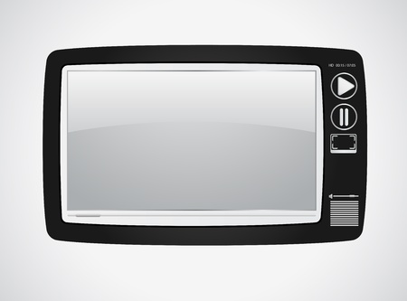 silver screen: Video player. Concept of retro style Illustration