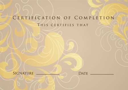 Certificate of Completion Template. Vecteur