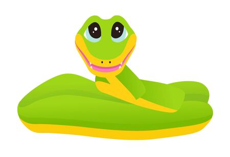 Cartoon snake. Vector illustration on white background Illustration