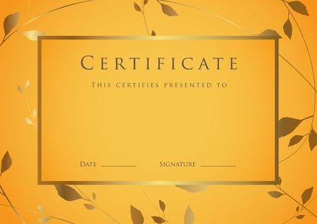 certificate background: Certificate of completion template. Diploma Illustration