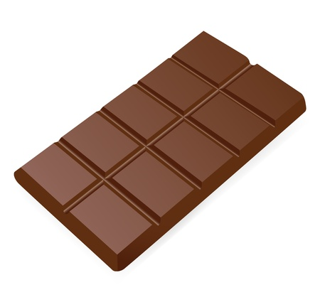 white chocolate: Bar of chocolate. Vector illustration on white background