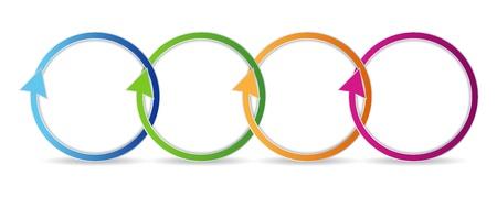 Colorful circular arrows. Vector illustration Stock Vector - 13842100