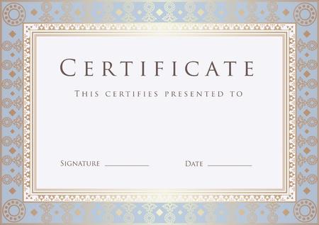 completion: Certificado de plantilla terminaci�n. Diploma Vectores