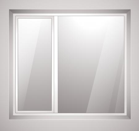 finestra: Finestra di plastica.