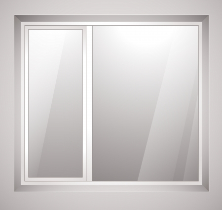 classic house: Plastic window. Illustration