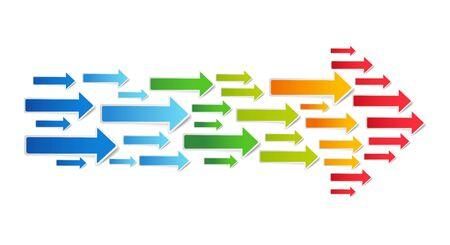 Colorful arrows. Stock Vector - 14157698