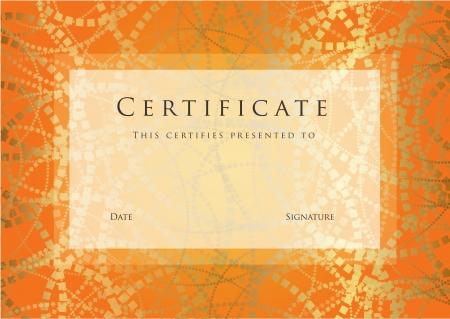completion: Certificado de plantilla terminaci�n. Vectores