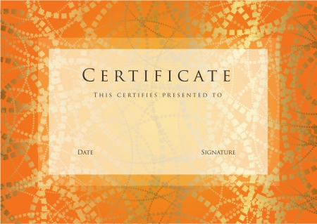 Certificate of completion template.  Illustration