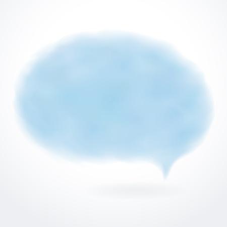 fuzzy: Speech bubble  Blue cloud