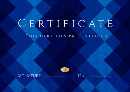 fondo de graduacion: Certificado de terminaci�n Diploma plantilla
