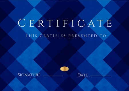 certificate background: Certificate of completion template  Diploma Illustration
