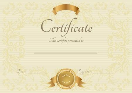 graduados: Certificado de finalizaci�n Vector plantilla