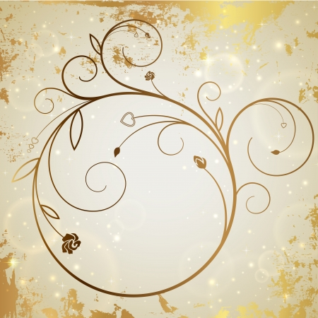 Gold vector background Vector