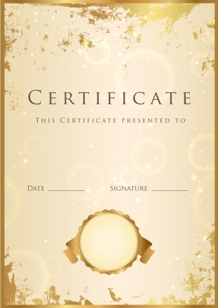 Certificate of completion template. Stock Vector - 16655882