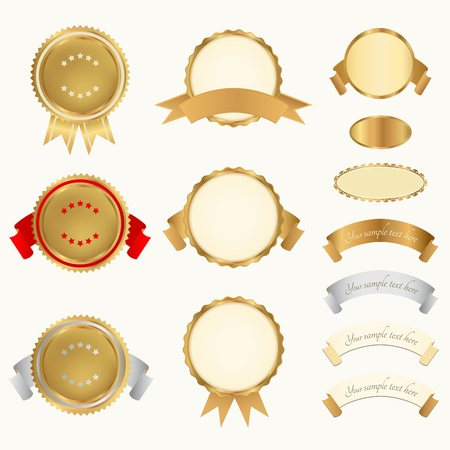 Vector set  Awards  Abstract design elements Illustration