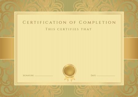 fondo de graduacion: Certificado de plantilla de terminación