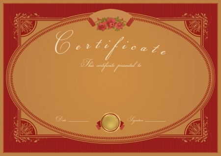 Certificate  Diploma of completion.  template Vector