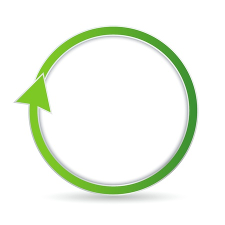 Green circular arrow with place for your text Stock Vector - 17181524