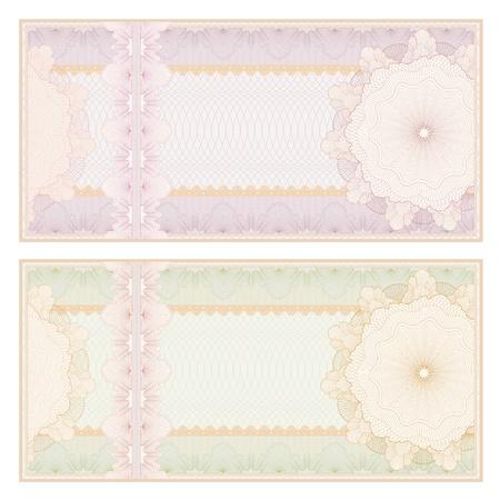 guilloche pattern: Voucher  coupon. Guilloche pattern