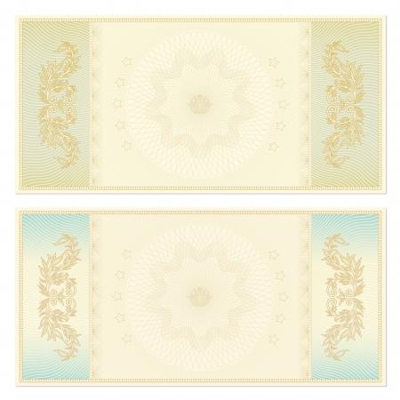 guilloche pattern: Voucher   coupon  Guilloche pattern Illustration