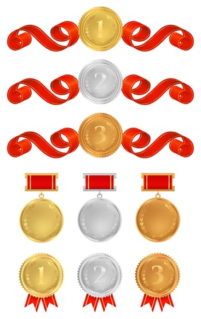Vector set: Awards. Design elements Stock Vector - 17266209