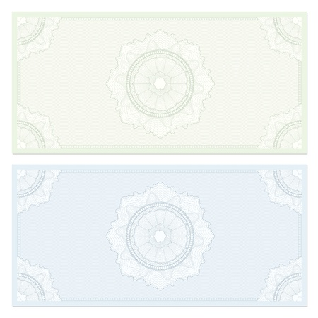 Voucher / coupon. Guilloche pattern Stock Vector - 17299887