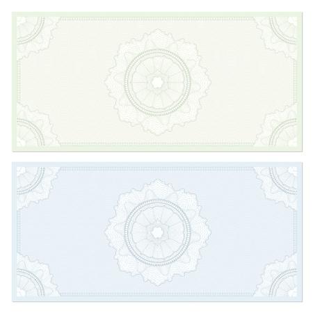 guilloche: Voucher  coupon. Guilloche pattern
