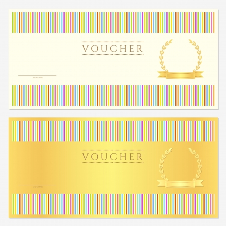 Voucher  coupon  gift Vector