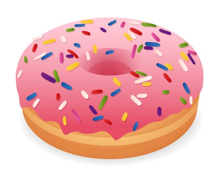 doughnut: Sweet donut  Isolaed vector illustration on white background