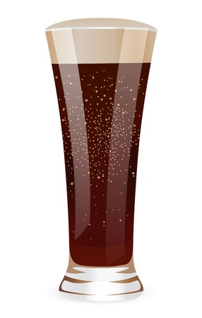 softdrink: Fizzy water in tall glass  Isolaed vector illustration on white background