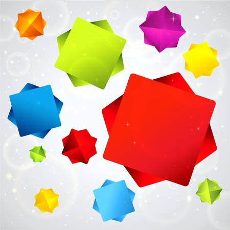 Abstract background with colorful 3d falling stars  Useful for banner design, business concept, website template or web ad  Creative Illustration multi colored objects and place for text  Vector Stock Vector - 17491544