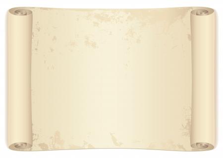 carte trésor: Rouleau de parchemin vieux carte au trésor Ce fond utilisable pour le diplôme, invitation, officiel, écrire des lettres ou des prix différents illustration isolé sur fond blanc