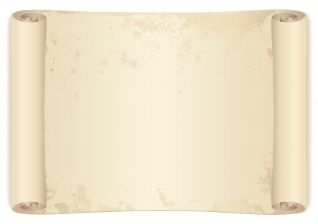 Scroll  old treasure map   Parchment  This background usable for diploma, invitation, official, letter writing or different awards  Isolated illustration on white background Vector