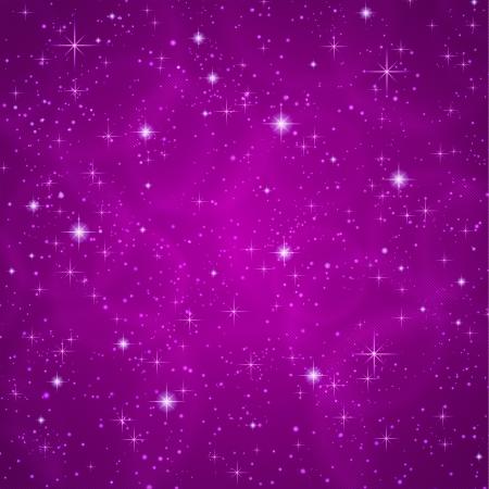 Résumé violet foncé pétunia fond avec mousseux, étoiles scintillantes