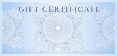Gift certificate, Voucher, Coupon template  layout  with guilloche pattern