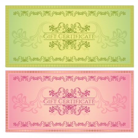 bank note: Gift certificate Illustration