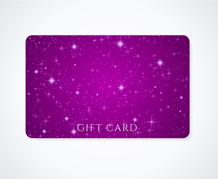 purple stars: Dark violet  petunia Gift Business card
