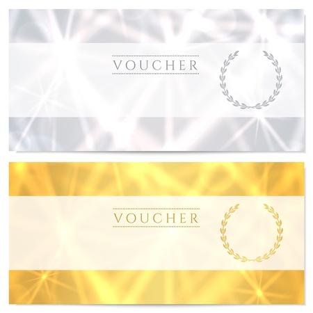 Certificat-cadeau Chèque Vecteurs
