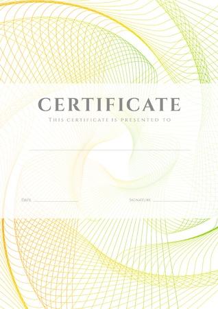 인증서는 완료 디자인 템플릿의 디플로마,기로 쉐 패턴 워터 마크와 배경, 성취 증명서, 교육, 포상, 우승자의 인증서에 대한 유용한 프레임