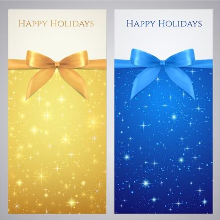 쿠폰, 상품권, 초대장, 배너, 골드 티켓 벡터, 블루 색상 별 반짝 반짝 빛나는, 밤 배경 디자인 반짝이 본 상품권, 나비 리본으로 선물 카드 템플릿,
