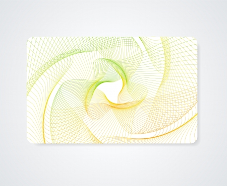 Colorful Business card, Gift card, Discount card template  layout  with rainbow guilloche pattern  watermark   Vector abstract background design