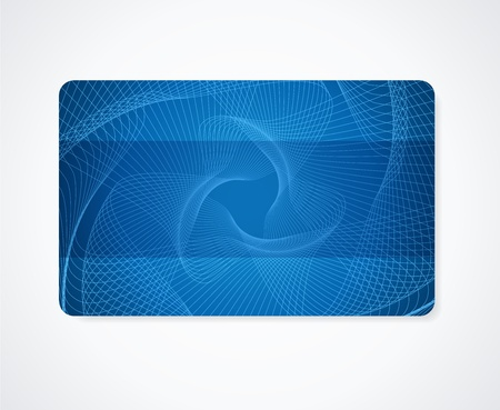 Dark blue Business card, Gift card, Discount card template  layout  with rainbow guilloche pattern  watermark   Vector abstract background design Çizim